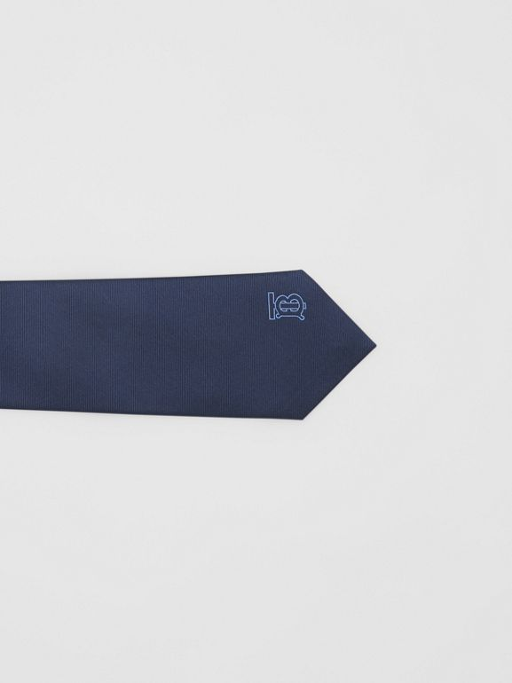 Classic Cut Monogram Motif Silk Tie in Bright Navy - Men | Burberry - cell image 1