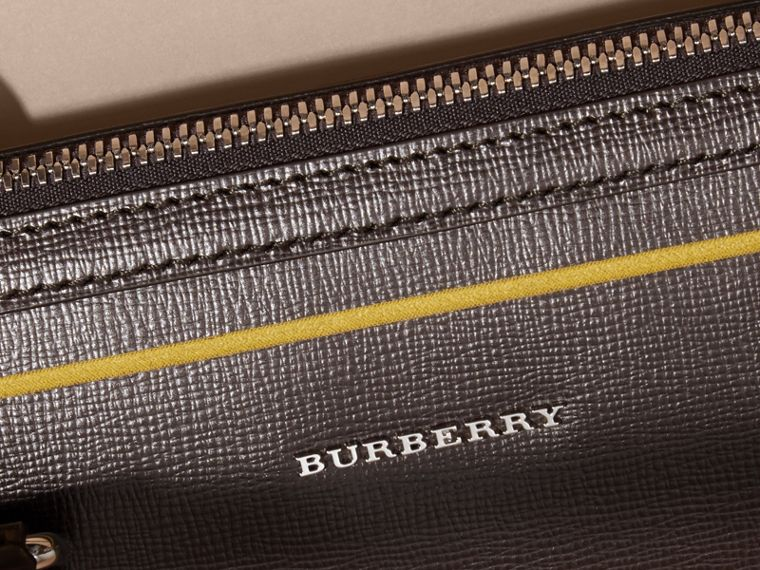 Sac The Barrow fin en cuir London avec bordure contrastante (Poivre) - Homme | Burberry - cell image 1