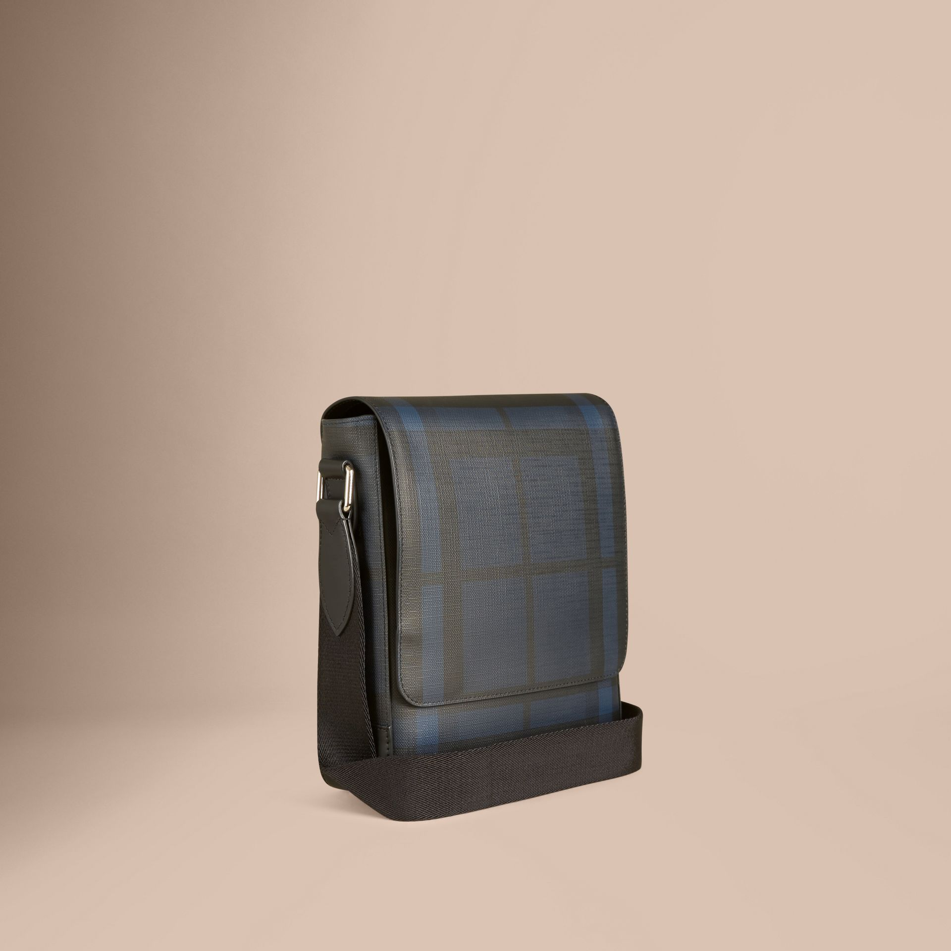 London Check Crossbody Bag in Navy/black - gallery image 1