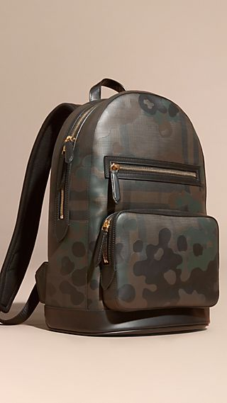 Camouflage Print Backpack