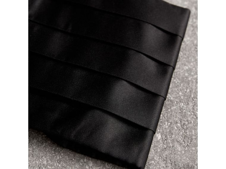 Pleated Silk Cummerbund in Black - Men | Burberry United States - cell image 1