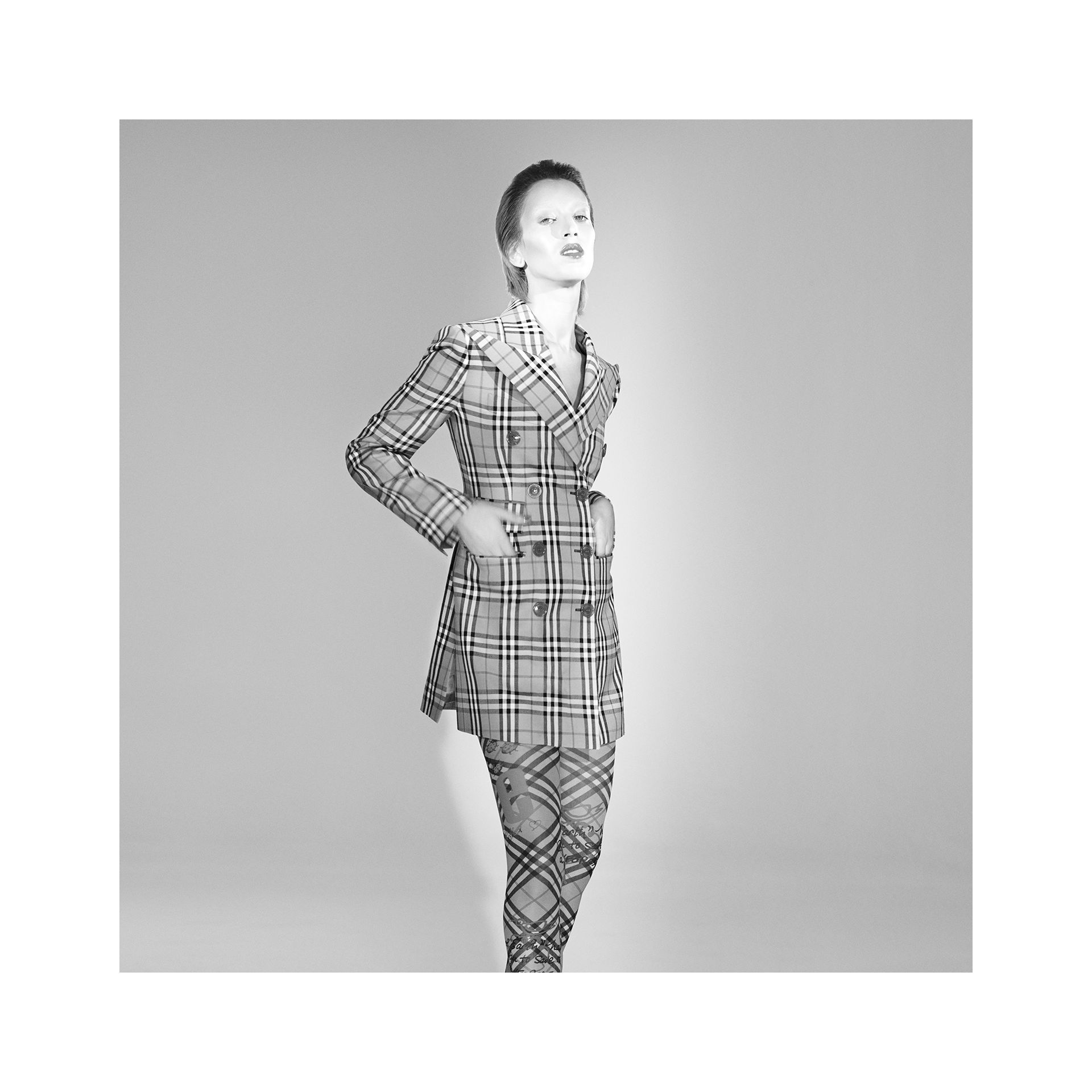 Vintage Check Wool Double-breasted Jacket in Antique Yellow - Women | Burberry - gallery image 1