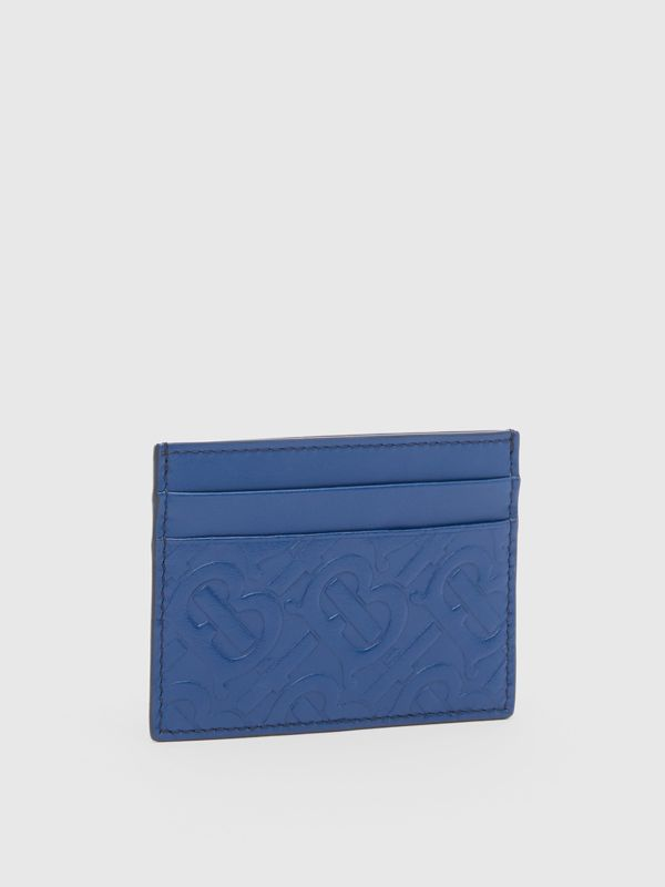 Monogram Leather Card Case in Pale Canvas Blue - Men | Burberry United States - cell image 3