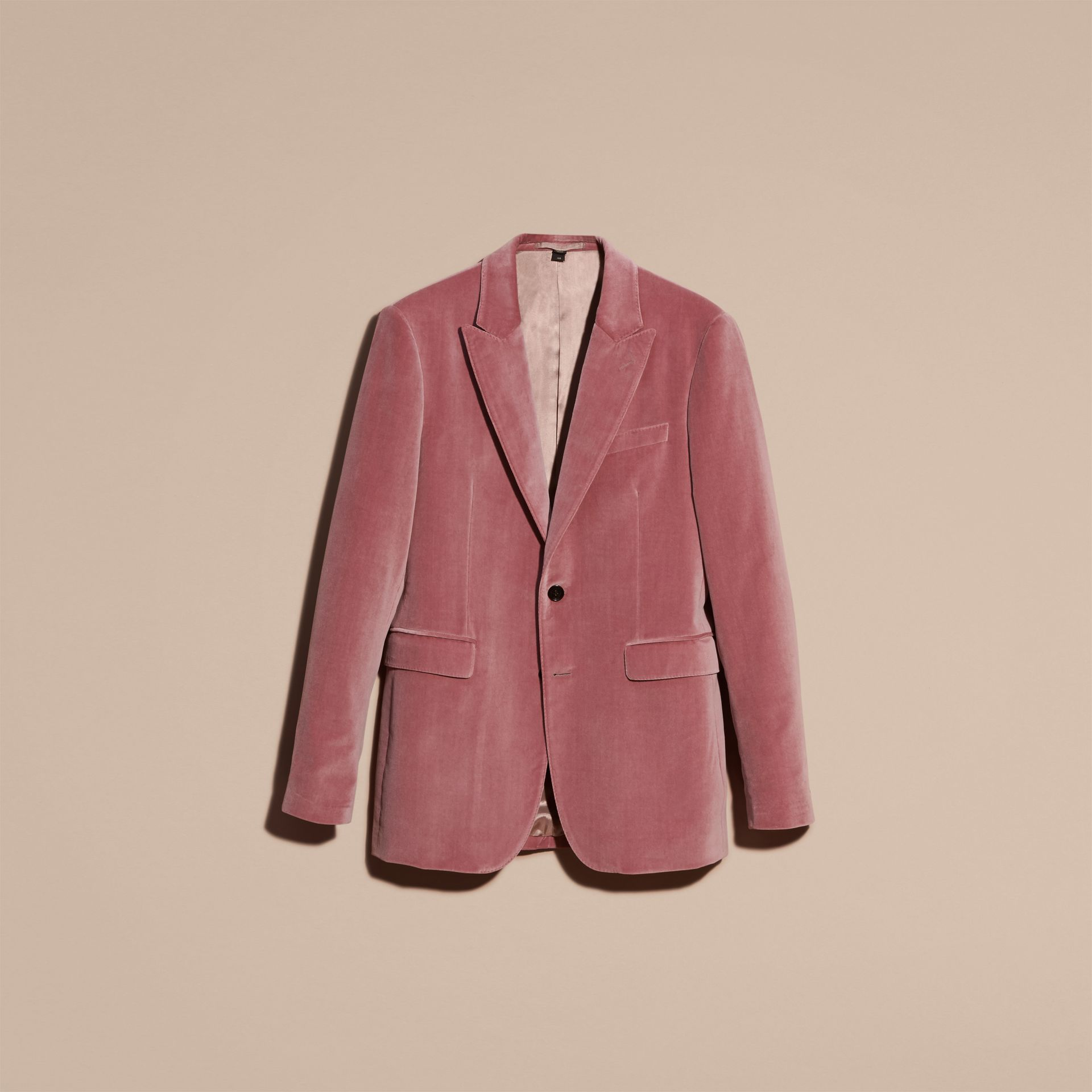 Rose pink Tailored Velvet Jacket - gallery image 4