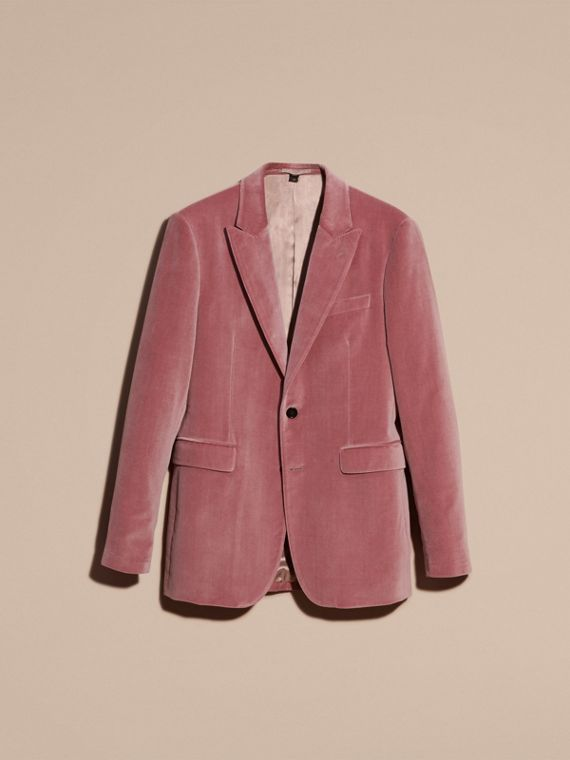 Rose pink Tailored Velvet Jacket - cell image 3