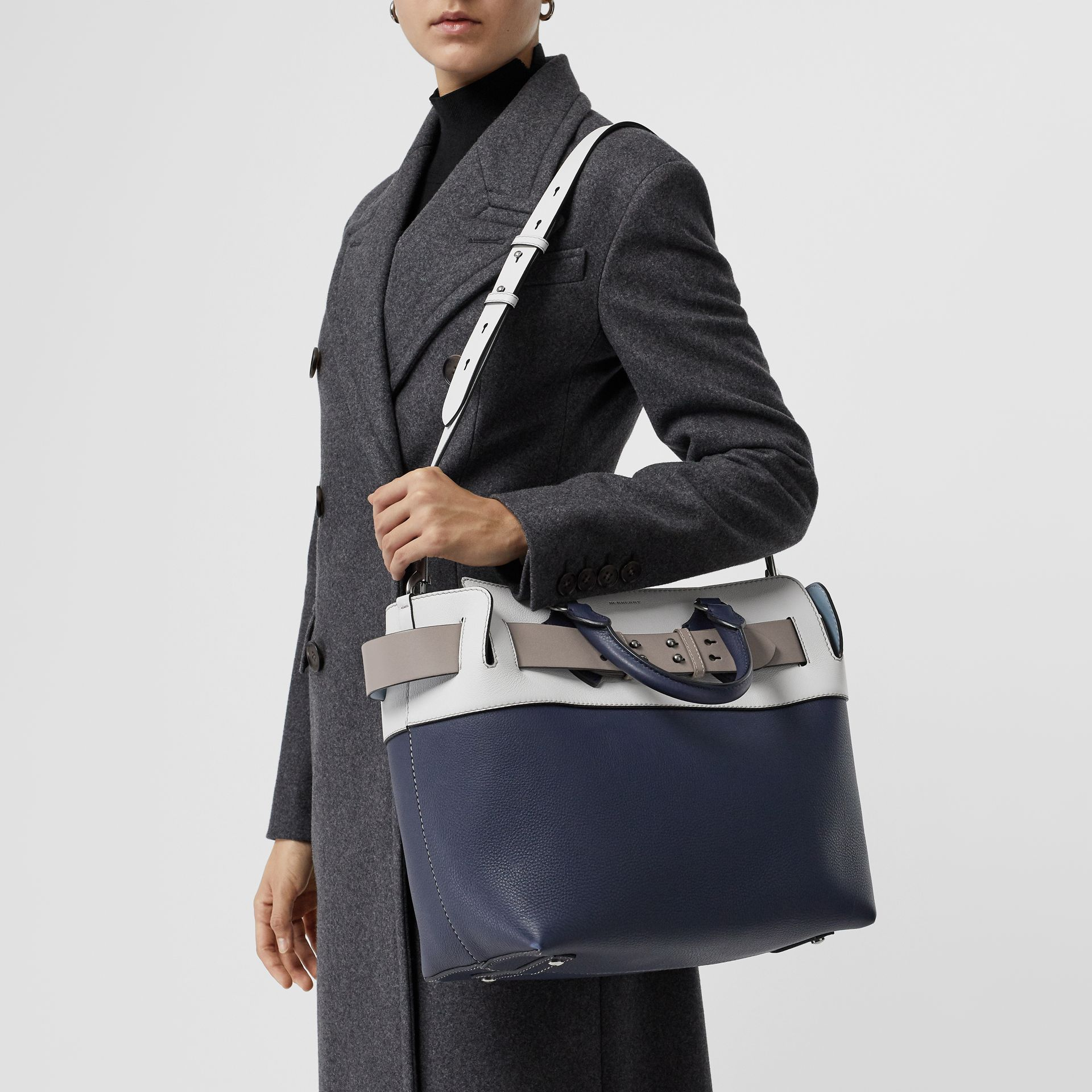 The Medium Tri-tone Leather Belt Bag in Regency Blue - Women | Burberry - gallery image 5