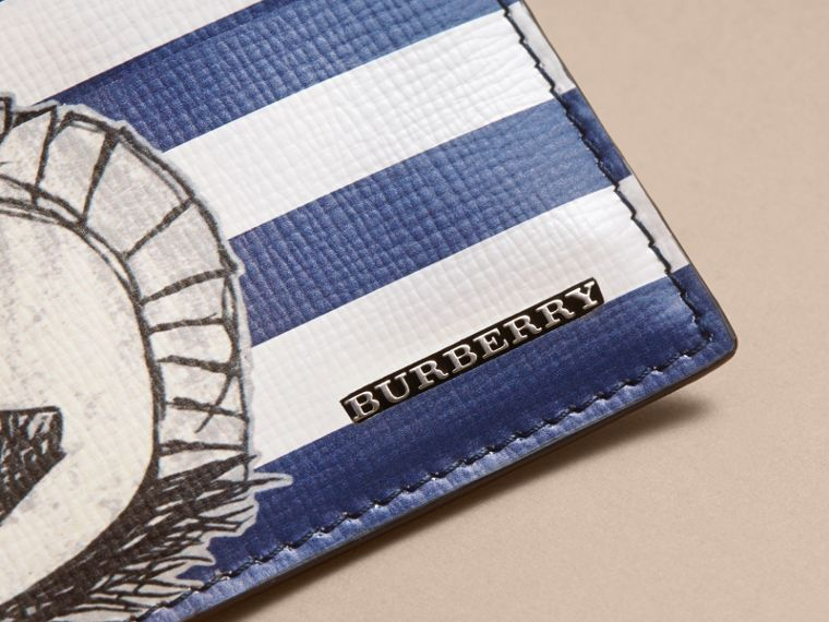 Porta carte di credito in pelle London con motivo Pallas Helmet - Uomo | Burberry - cell image 1