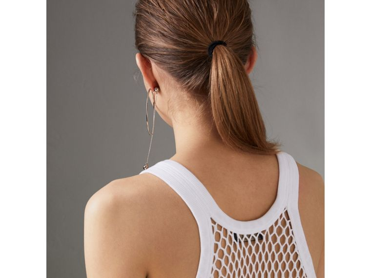 Cotton String Vest in Optic White - Women | Burberry Australia - cell image 1