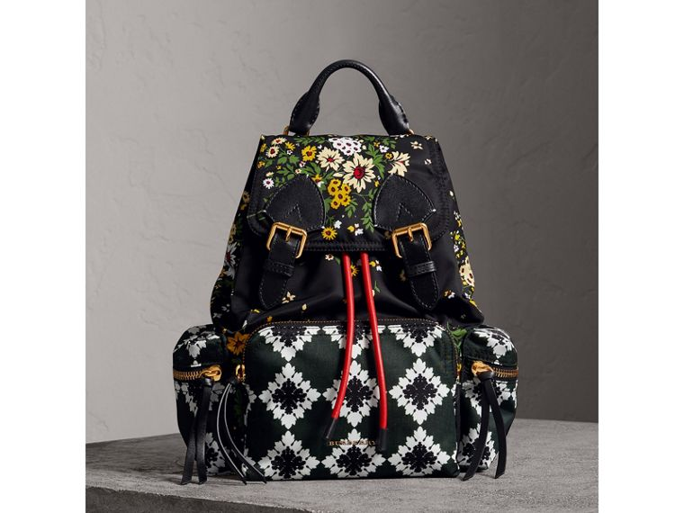 The Medium Rucksack mit floralem Muster (Schwarz) - Damen | Burberry - cell image 4