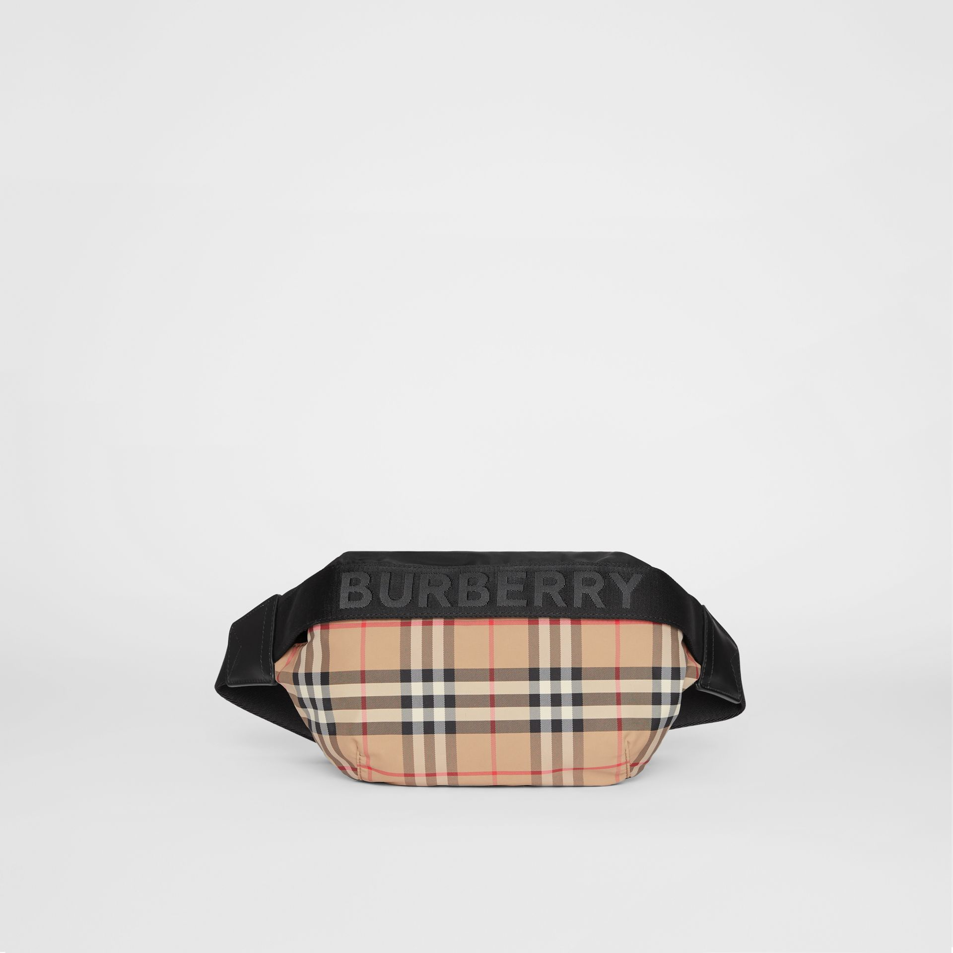 Medium Vintage Check Bum Bag in Archive Beige | Burberry Australia - gallery image 0