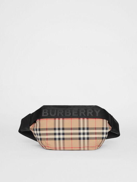 Medium Vintage Check Bum Bag in Archive Beige