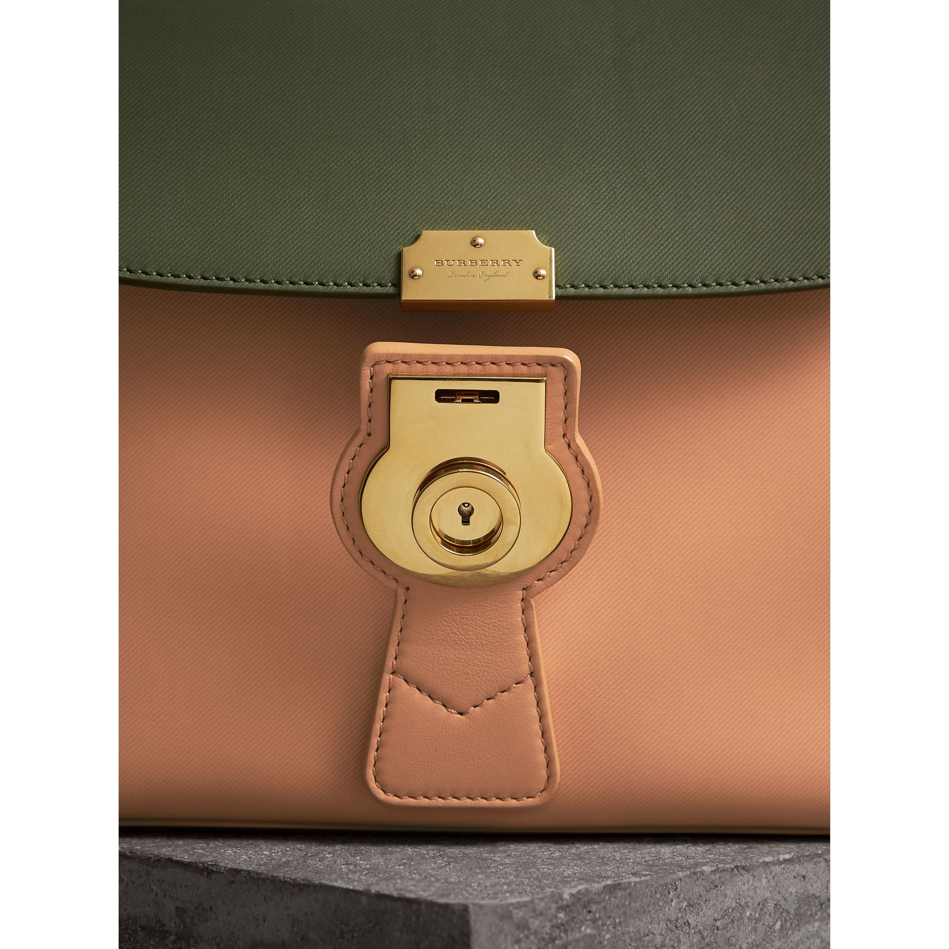 The Medium DK88 Top Handle Bag in Pale Clementine/moss Green - Women | Burberry - gallery image 1