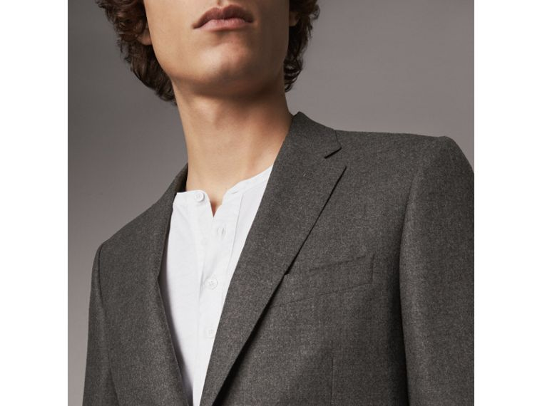 Soho Fit Wool Flannel Suit in Dark Charcoal Melange - Men | Burberry Canada - cell image 4