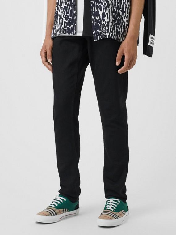 Узкие джинсы из японского денима (Черный)
