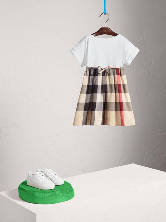 Check Cotton Dress in New Classic - Girl | Burberry Canada - cell image 2
