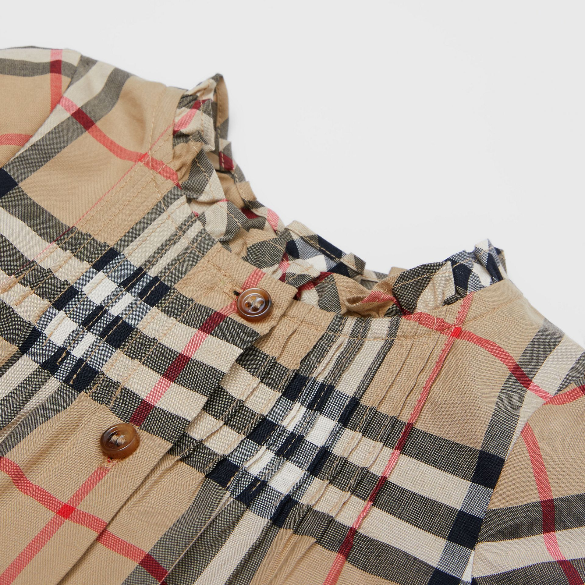 Vintage Check Cotton Dress with Bloomers in Archive Beige - Children   Burberry United Kingdom - gallery image 1