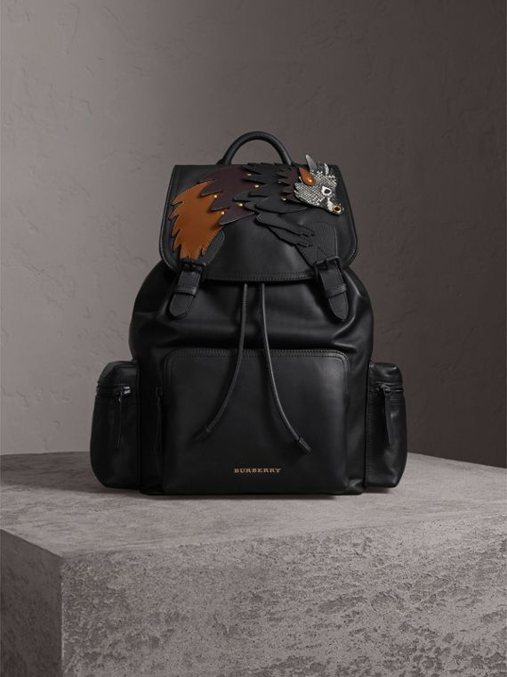 The Large Rucksack aus Leder mit Burberry Beasts-Motiv - Herren | Burberry