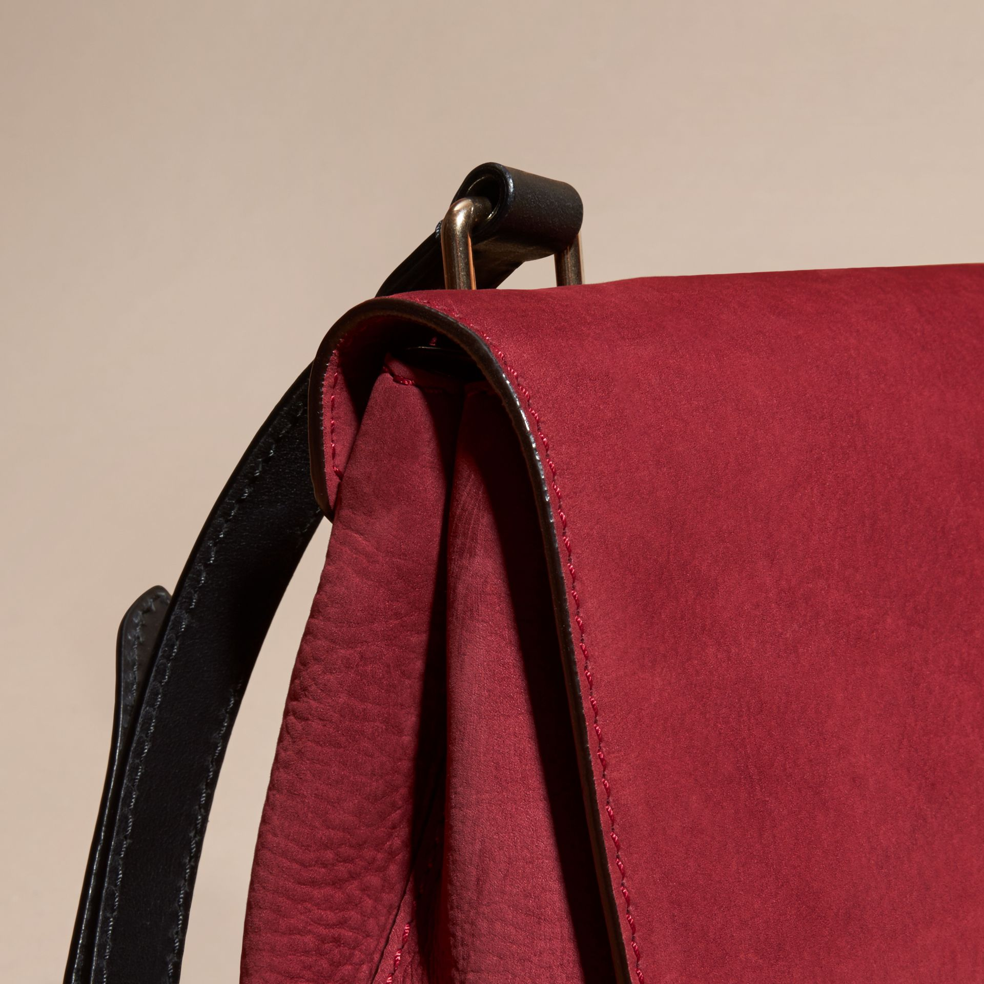 Cherry Grainy Nubuck Crossbody Bag - gallery image 6