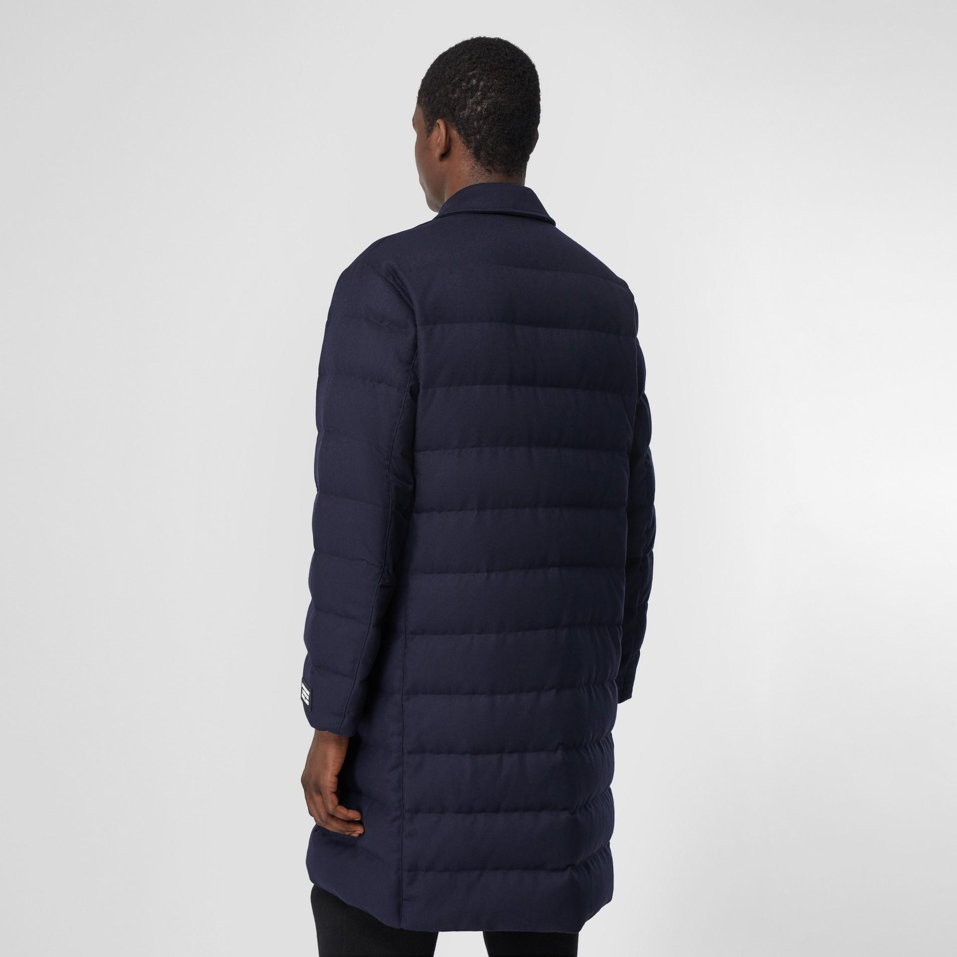 Wool Puffer Coat in Navy - Men | Burberry Canada - gallery image 2