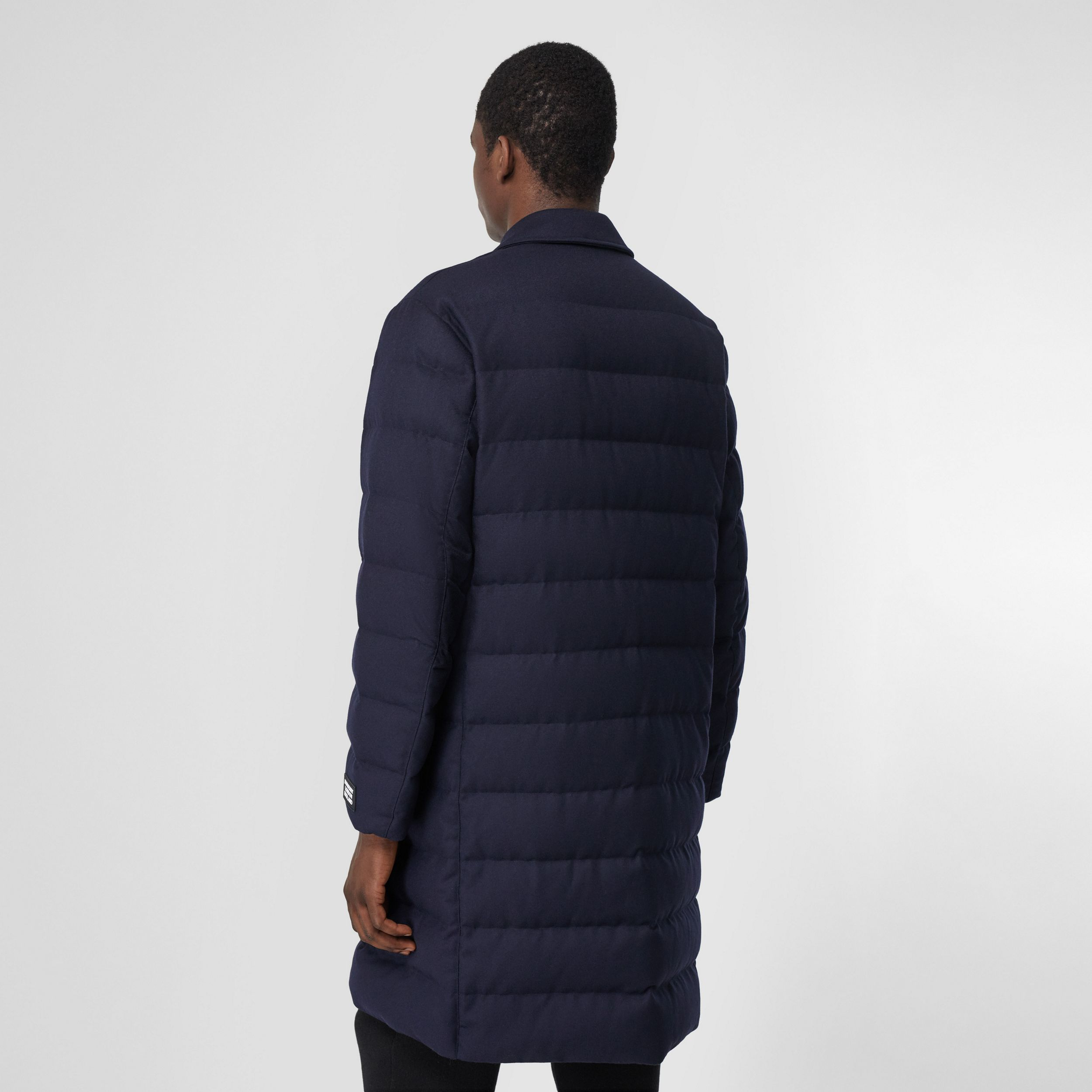Wool Puffer Coat in Navy - Men | Burberry - 3