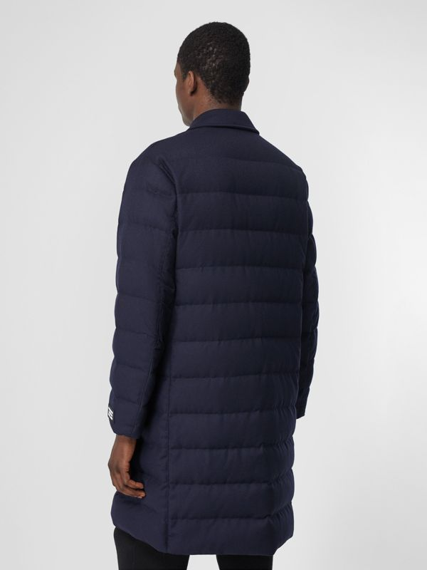 Car coat in lana con imbottitura (Navy) - Uomo | Burberry - cell image 2