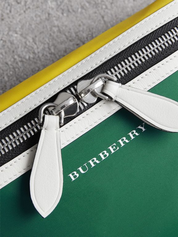 Tri-tone Nylon and Leather Bum Bag in Pine Green | Burberry Singapore - cell image 1