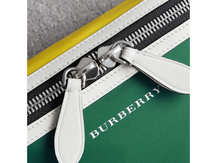 Tri-tone Nylon and Leather Bum Bag in Pine Green | Burberry United Kingdom - cell image 1