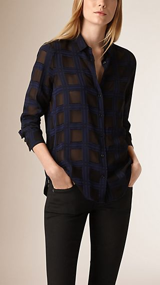 Check Silk Blend Shirt