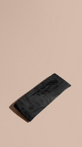 Ceinture de smoking en soie plissée