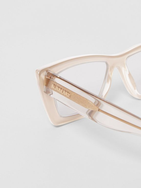 Rectangular Optical Frames in Nude - Women | Burberry - cell image 1