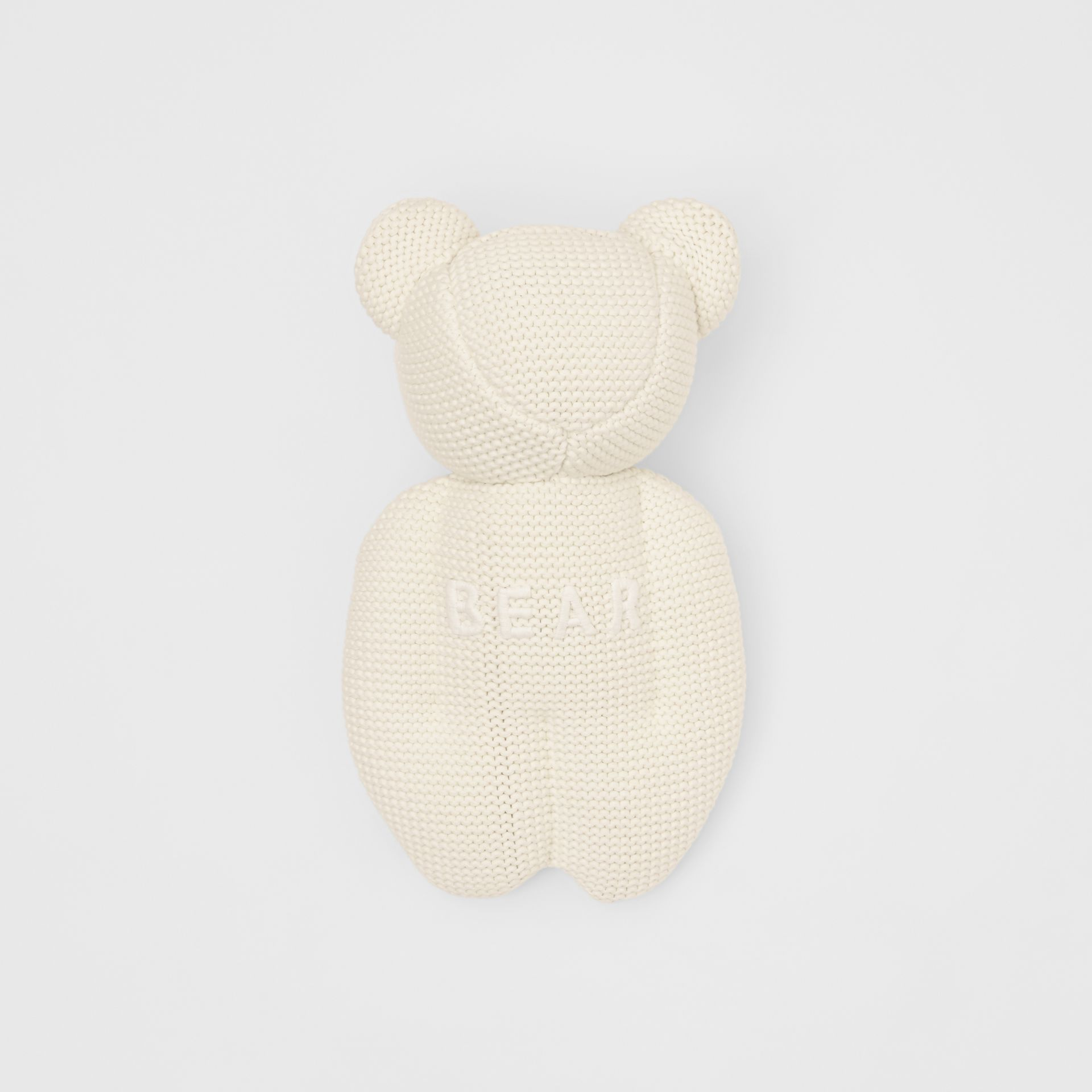 Cotton Cashmere Thomas Bear in Ivory - Children | Burberry United Kingdom - gallery image 2