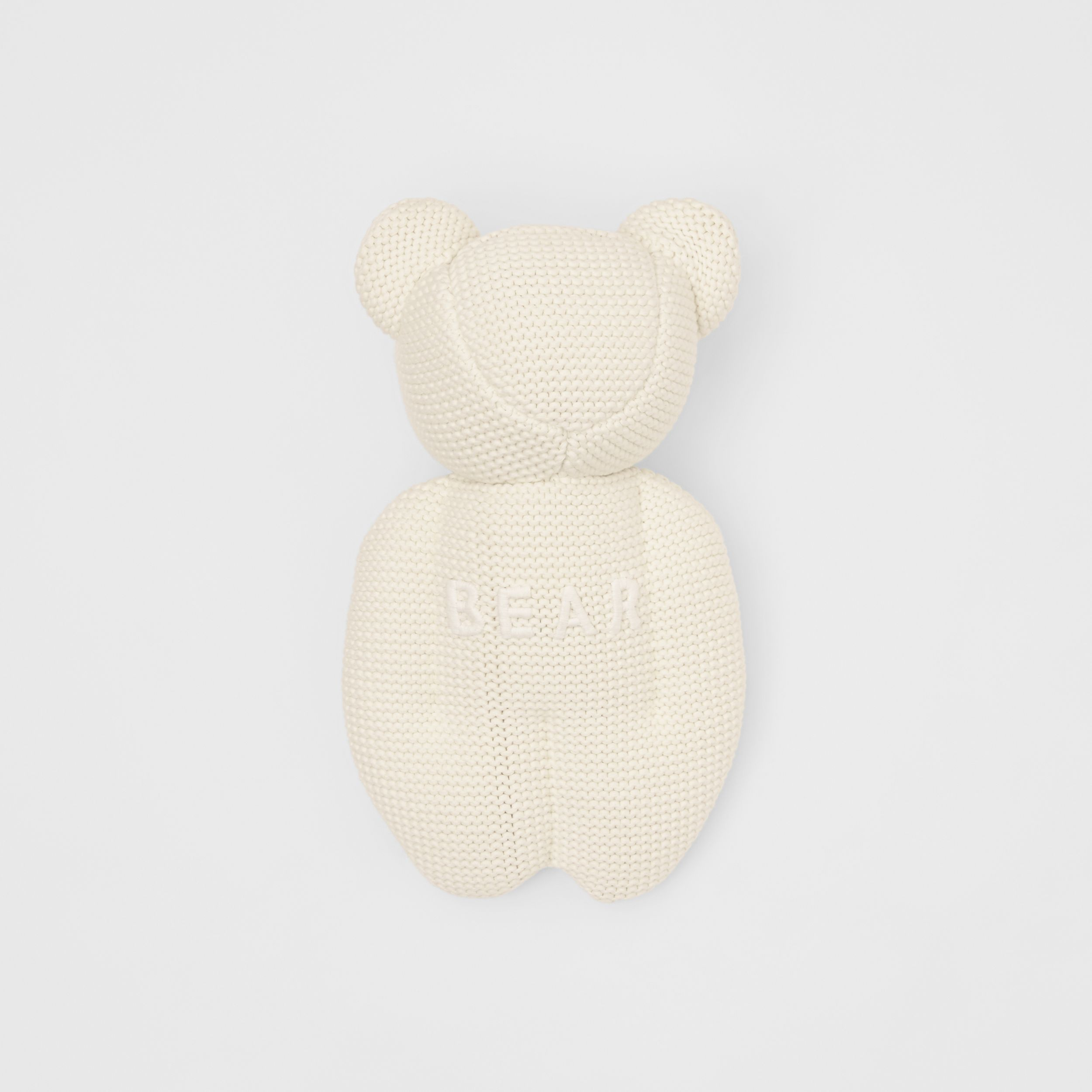 Cotton Cashmere Thomas Bear in Ivory | Burberry Canada - 3