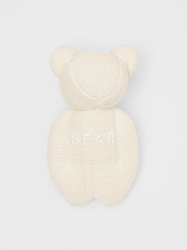 Cotton Cashmere Thomas Bear in Ivory - Children | Burberry United Kingdom - cell image 2