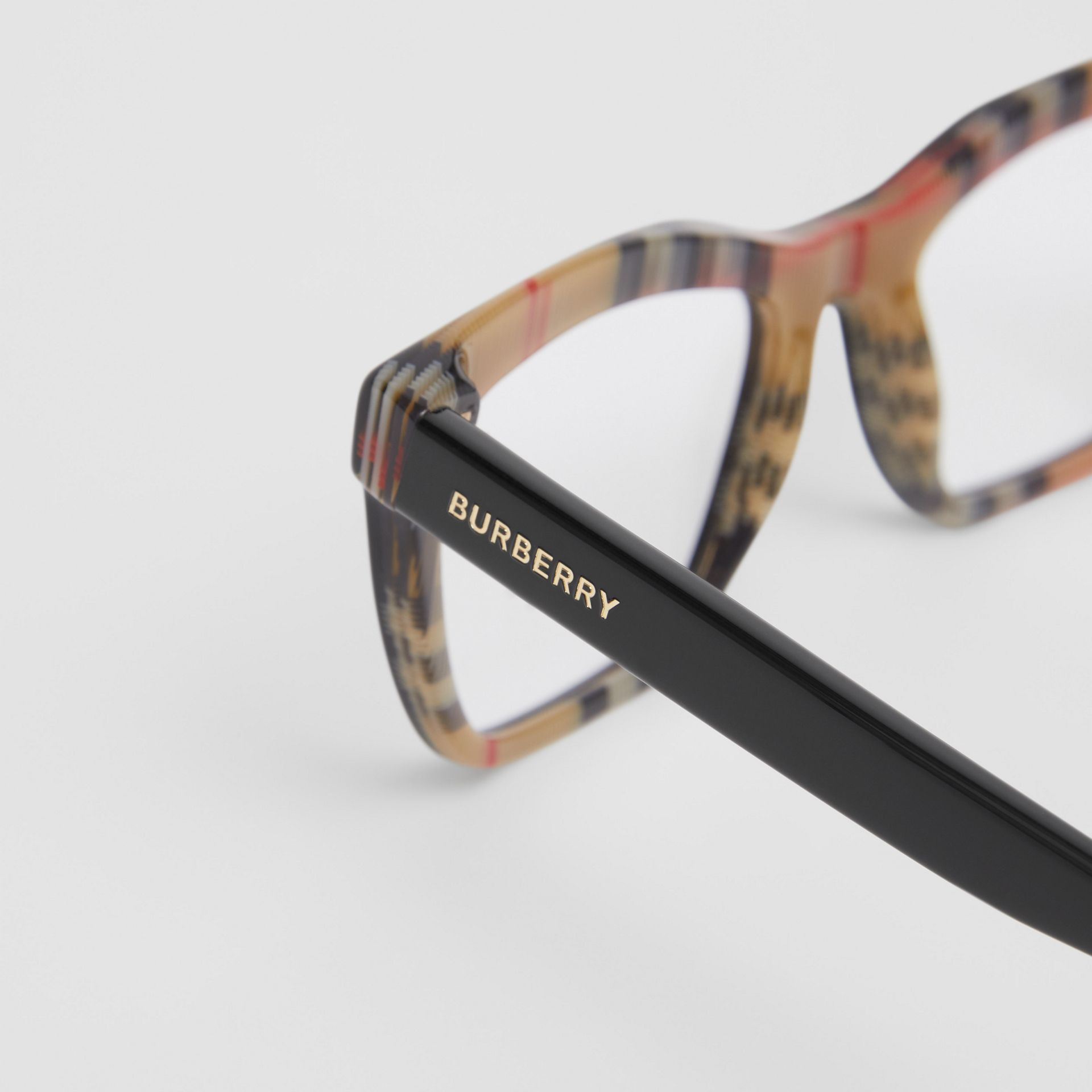 Rectangular Optical Frames in Black/beige - Women | Burberry Canada - gallery image 1