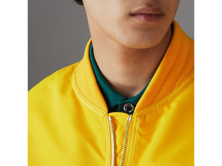 Nylon Bomber Jacket in Bright Yellow - Men | Burberry - cell image 4