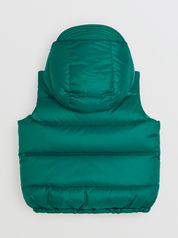 Reversible Showerproof Down-filled Hooded Gilet in Dark Cyan | Burberry - cell image 3