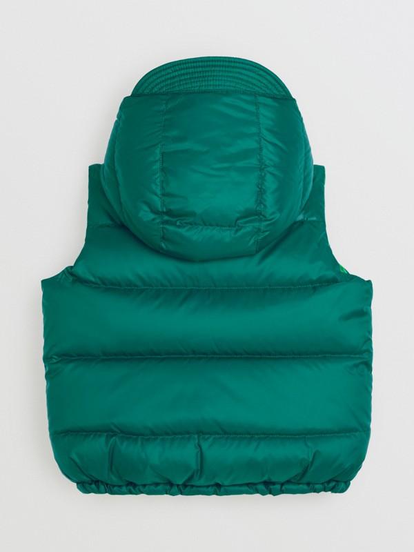 Gilet reversibile resistente alla pioggia con imbottitura e cappuccio (Ciano Scuro) | Burberry - cell image 3