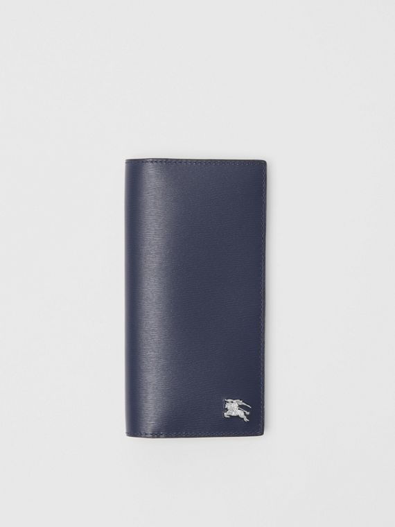 London Leather Continental Wallet in Navy