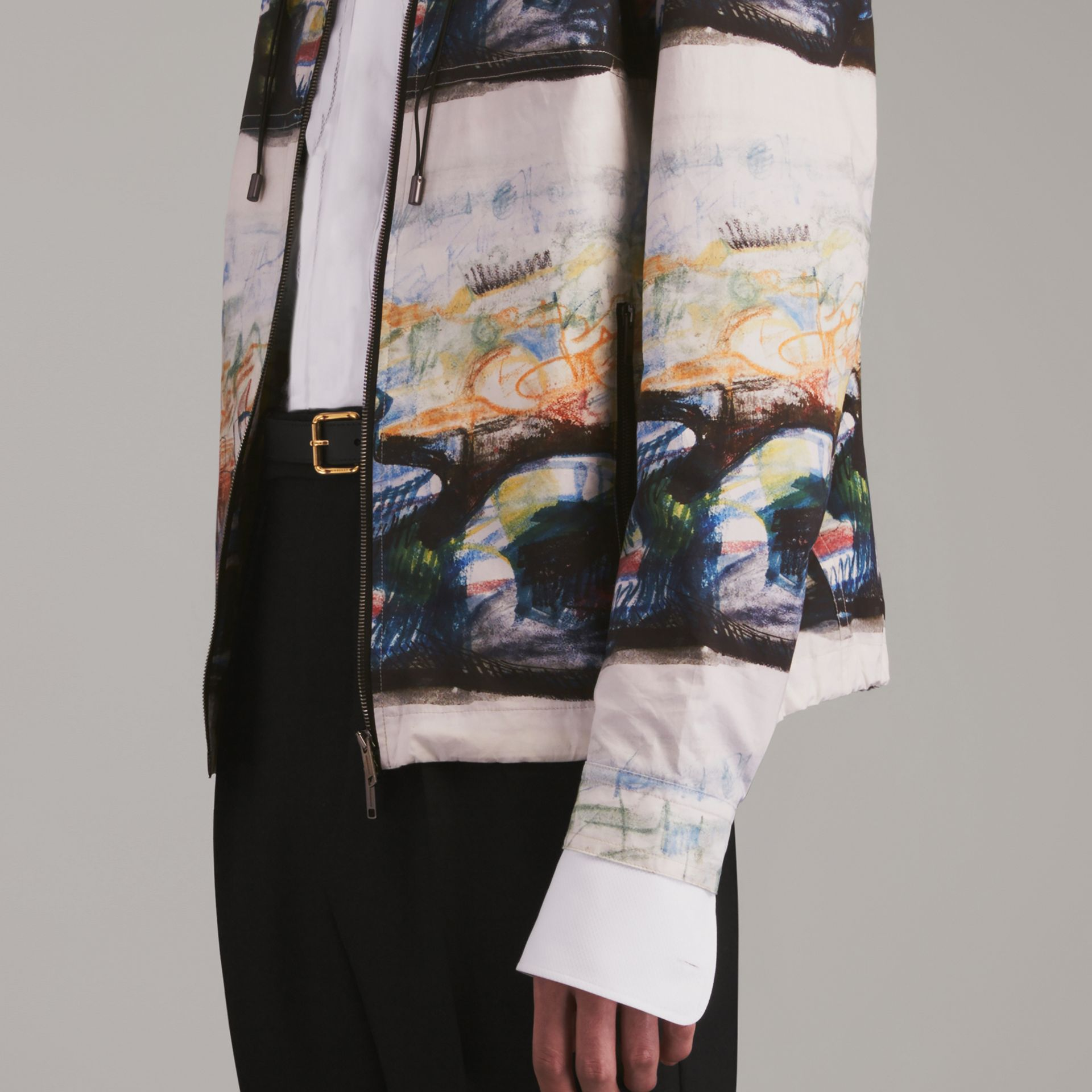 Reclining Figure: Bunched Print Hooded Jacket - gallery image 5