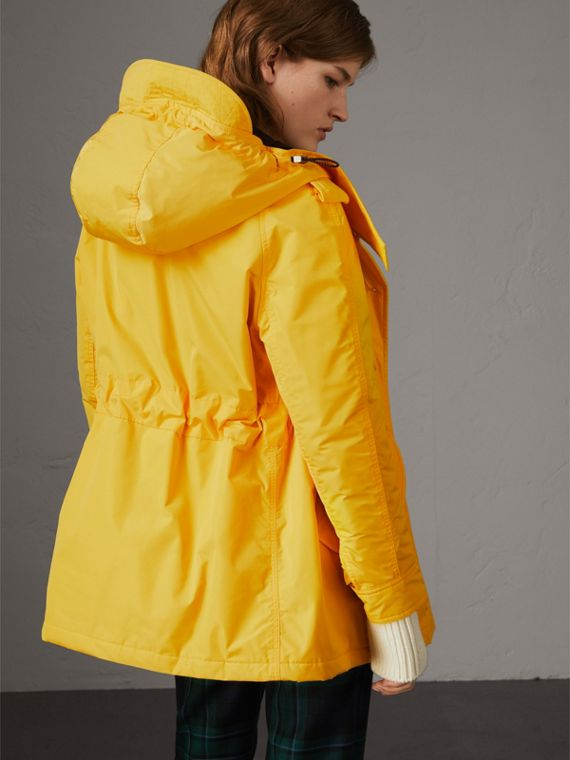 Technical Taffeta Hooded Parka in Bright Yellow - Women | Burberry - cell image 2