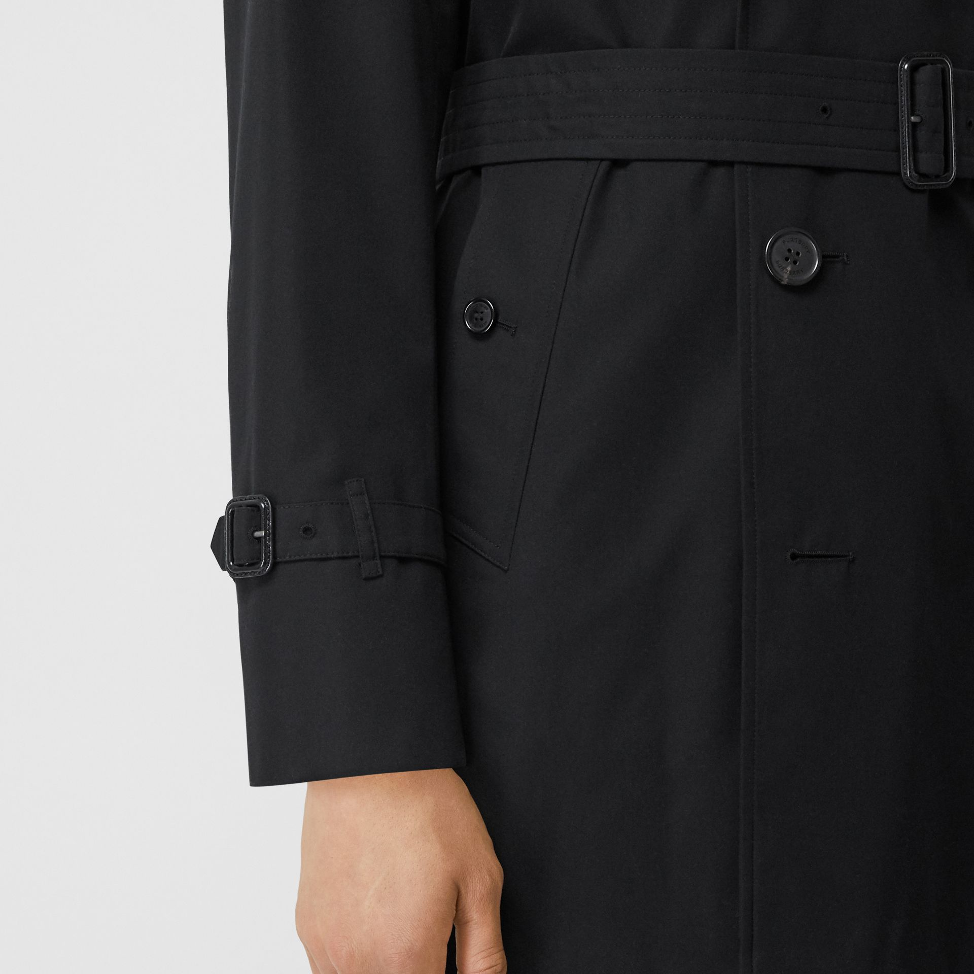 Cotton Gabardine Trench Coat in Black - Men | Burberry - gallery image 4