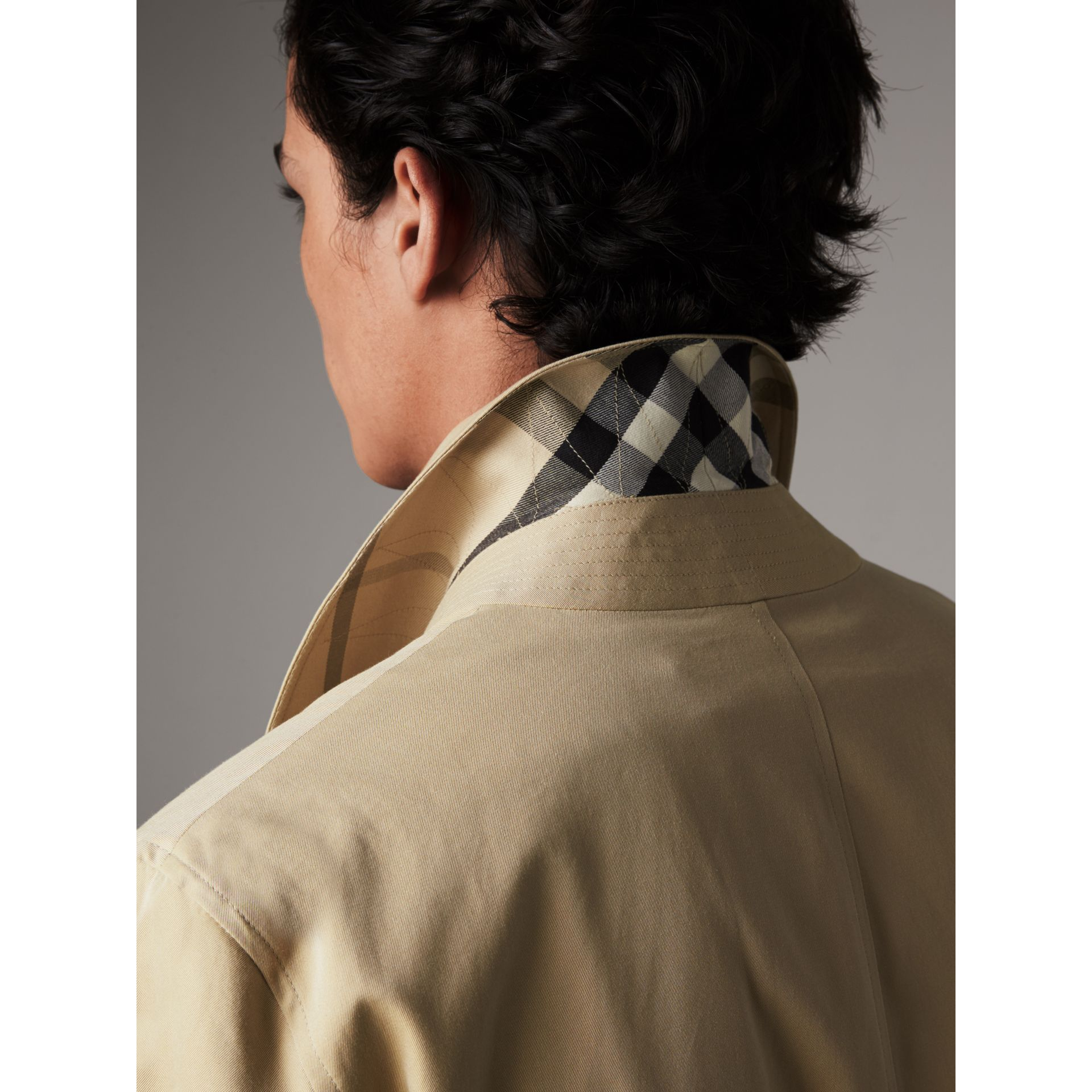 Cotton Gabardine Car Coat in Honey - Men | Burberry - gallery image 2