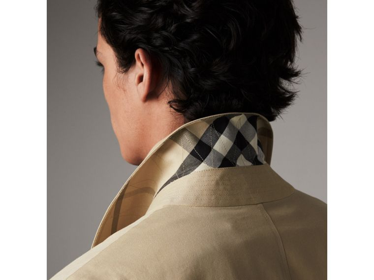 Cotton Gabardine Car Coat in Honey - Men | Burberry - cell image 1