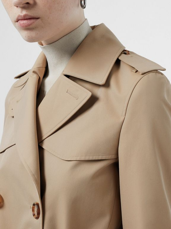 Cotton Gabardine Trench Coat in Honey - Women | Burberry Singapore - cell image 1