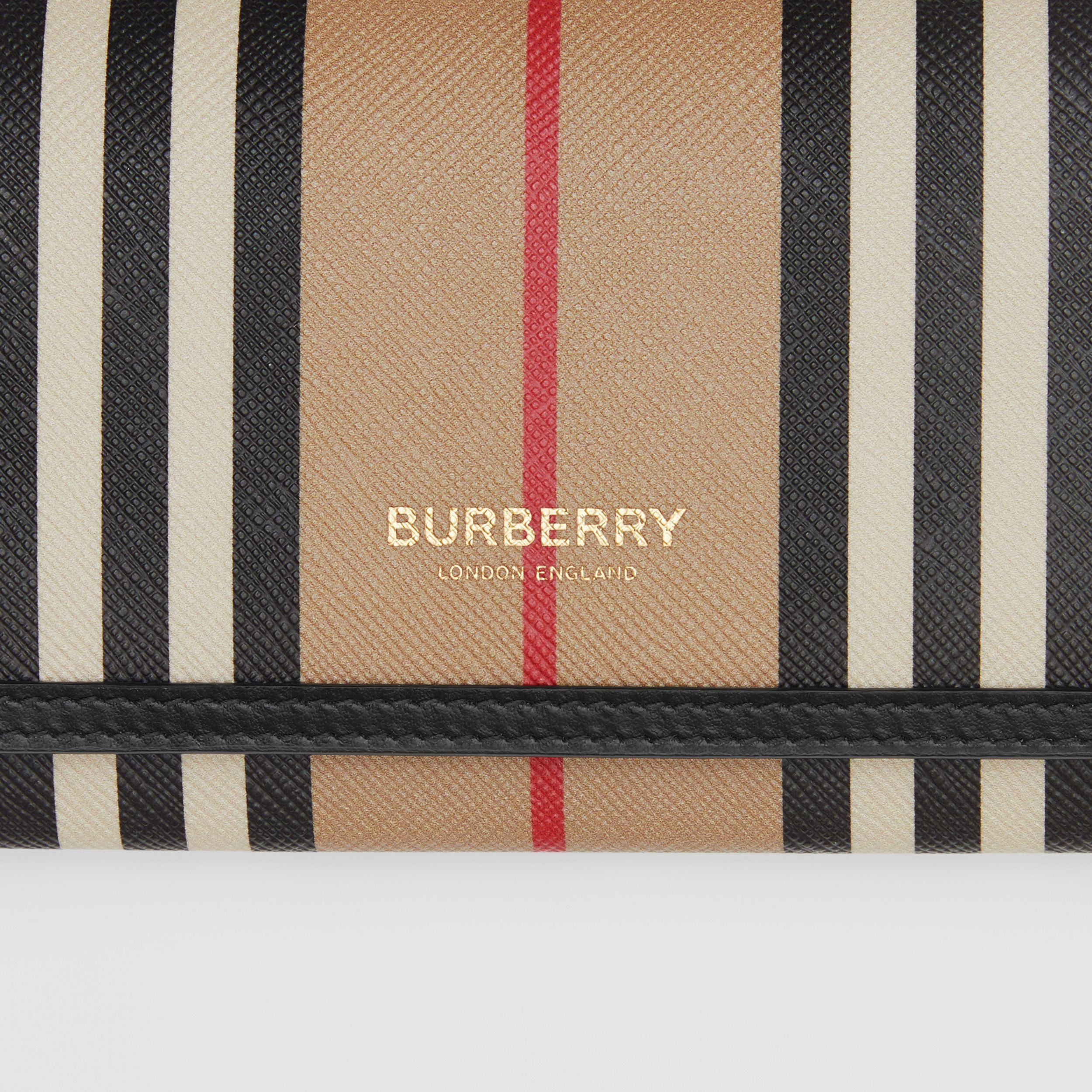 Icon Stripe E-canvas Continental Wallet in Archive Beige - Women | Burberry United States - 2