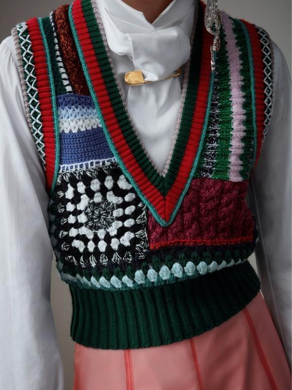 Colete de lã e cashmere com detalhes bordados à mão (Multicolorido) - Mulheres | Burberry - cell image 1