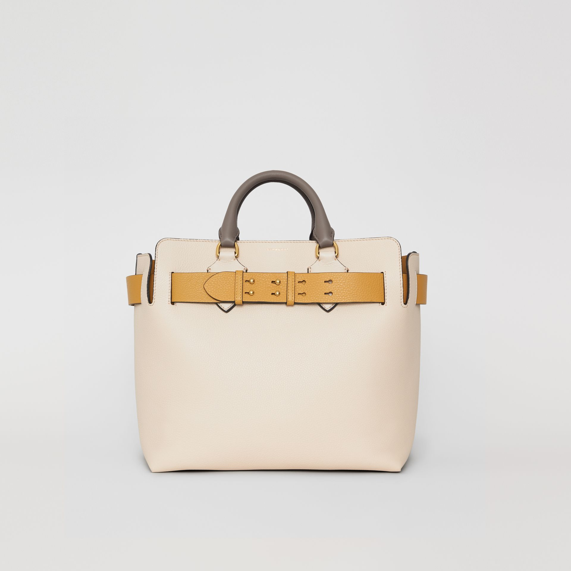 The Medium Tri-tone Leather Belt Bag in Limestone / Cornflower Yellow - Women | Burberry - gallery image 0