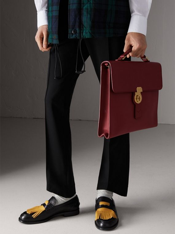 The Large DK88 Document Case in Antique Red - Men | Burberry - cell image 3