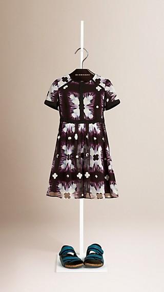 Tie-dye Print Silk Dress