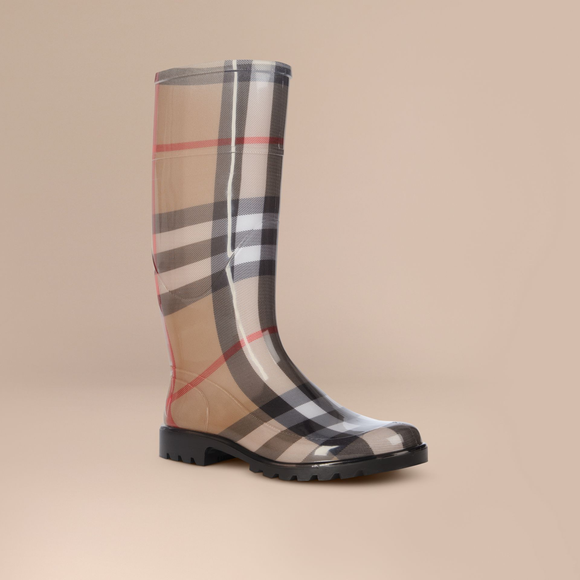 House check/black House Check Rain Boots - gallery image 1